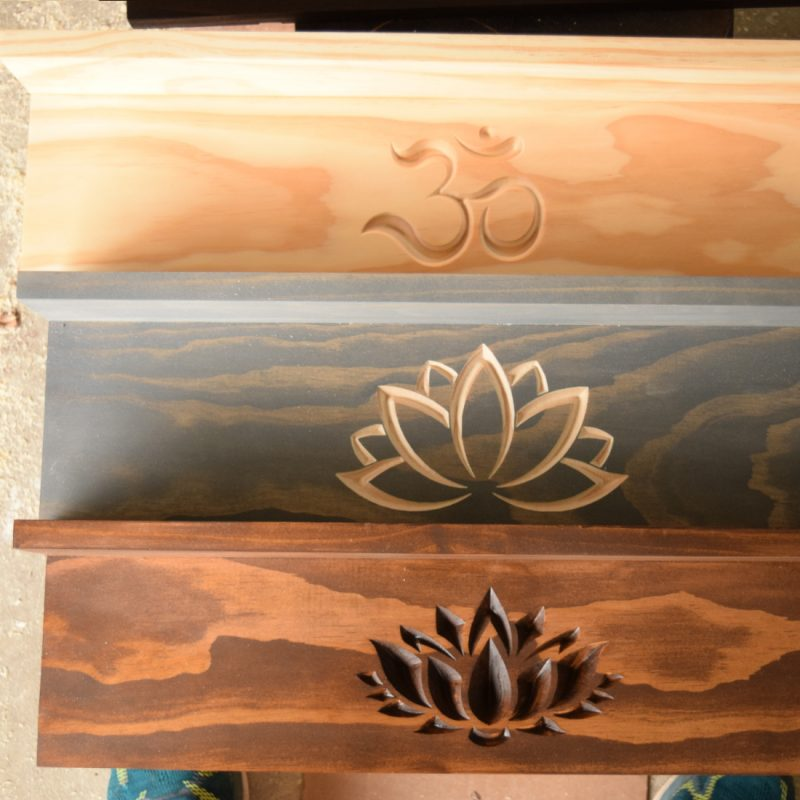 YOGA MAT HOLDERS BEING MADE